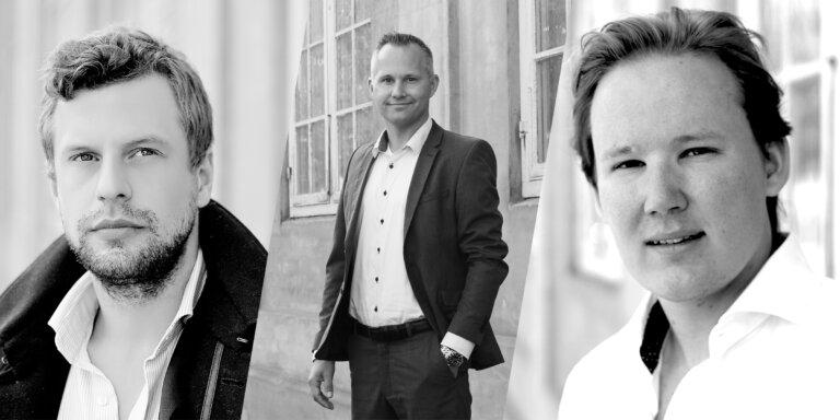 From left: Founder Casper Ravn-Sørensen, CEO Mikkel Winston, Founder Mads Emil Fast Dahlerup